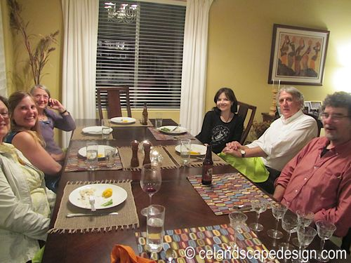 Dinner with garden designers